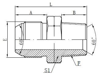 JIS crtež za NPT adapter