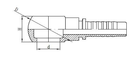 Metrički crtež za montažu crijeva