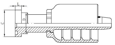 Crtež priključka SS cijevi