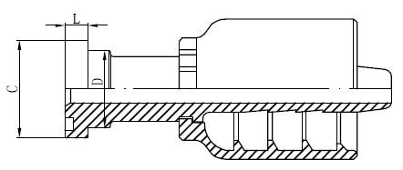 Nerđajući čelik Hidraulični dijelovi crteža